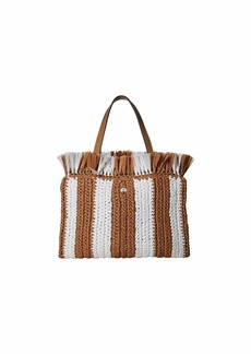Kate Spade Sam Stripe Straw Medium Satchel