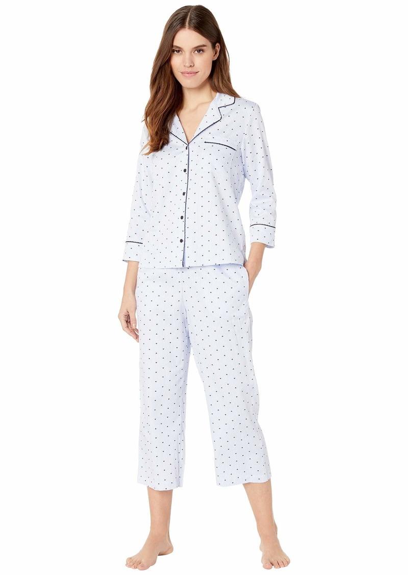 Kate Spade Sateen Capris Pajama Set