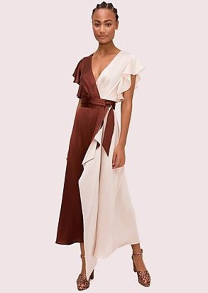 Kate Spade satin colorblock dress