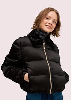 Kate Spade satin puffer jacket