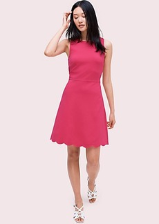 Kate Spade scallop back ponte dress