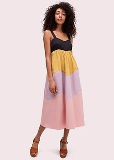 Kate Spade scallop blocked midi dress