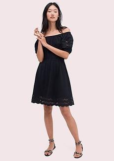 Kate Spade scallop border knit dress