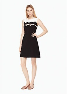 scallop bow a-line dress