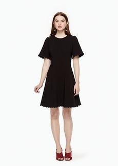 scallop crepe swing dress