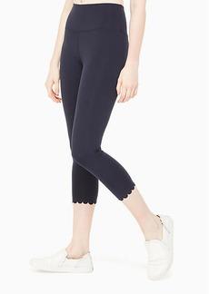 Kate Spade scallop crop legging