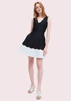 Kate Spade scallop fit and flare dress