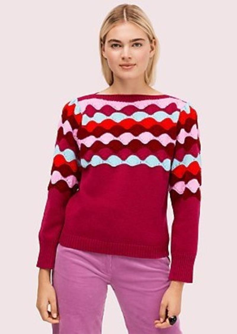 Kate Spade scallop intarsia sweater