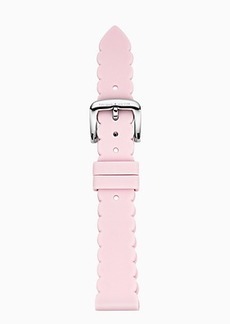Kate Spade scallop pink silicone smartwatch strap