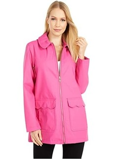 Kate Spade Scallop Pocket Matte Rain Jacket