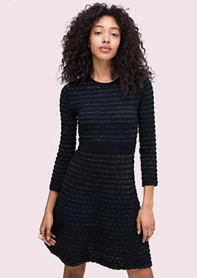 Kate Spade scallop shine sweater dress