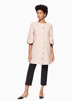 Kate Spade scallop tweed coat