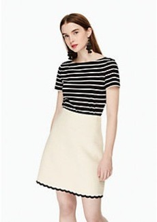 scallop tweed skirt
