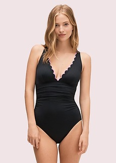 Kate Spade scallop wave plunge one-piece