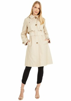 Kate Spade Scalloped Edge Belted Rain Trench
