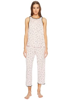 Kate Spade Scattered Dot Cropped PJ Set