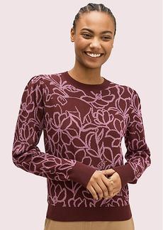 Kate Spade Scribble Flora Sweater