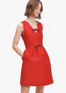 Kate Spade Sequin-Bow Mikado Dress