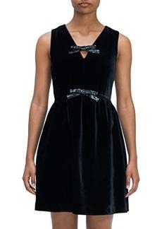 Kate Spade Sequin Bow Velvet Dress