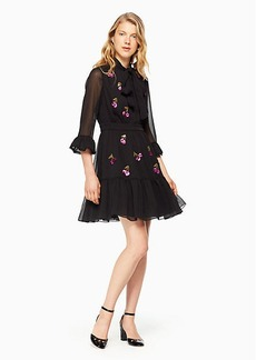 Kate Spade sequin cherries shirtdress
