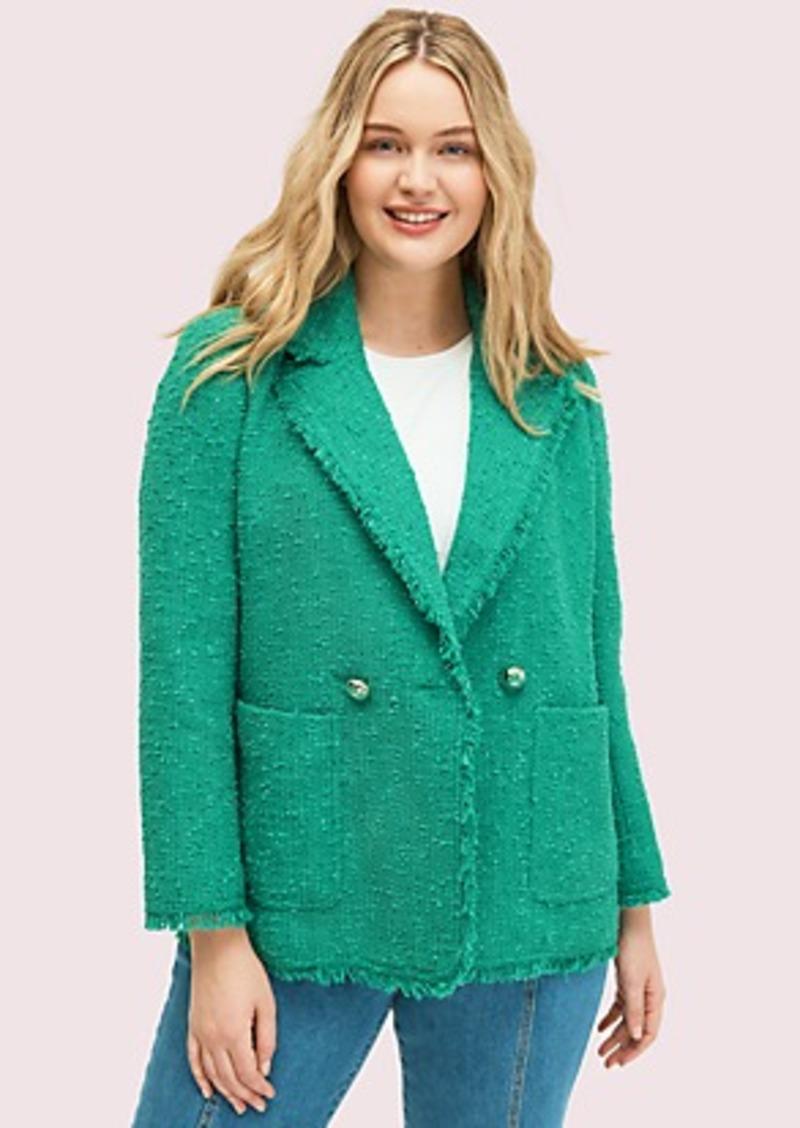 Kate Spade sequin tweed blazer