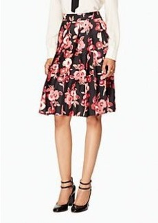 shadow buds pleated skirt