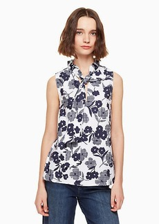 Kate Spade shadows poplin top
