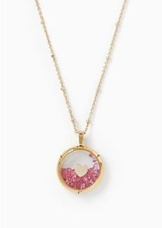 Kate Spade shake things up heart of gold pendant