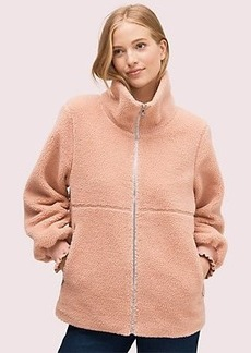 Kate Spade sherpa zip-up