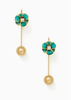 Kate Spade shine on flower hanger earrings