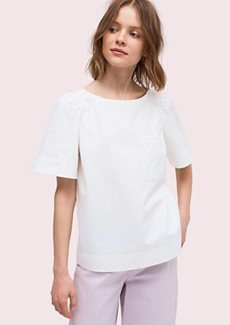 Kate Spade short sleeve twill blouse