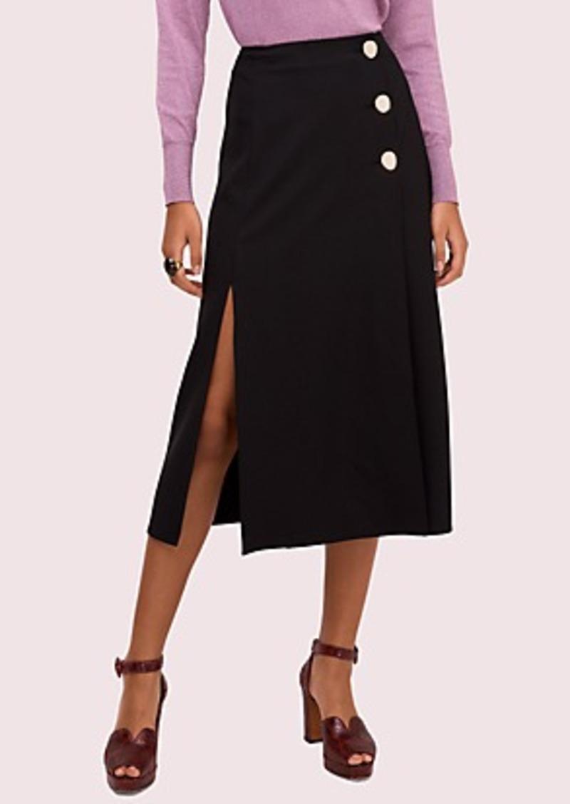 Kate Spade side slit twill skirt