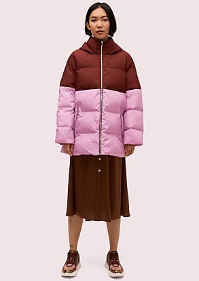 Kate Spade side zip puffer jacket