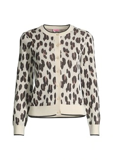 Kate Spade Signature Leopard-Print Cardigan