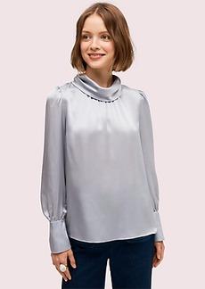 Kate Spade silk charmeuse blouse