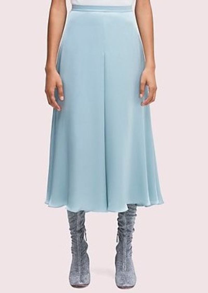 Kate Spade silk charmeuse midi skirt
