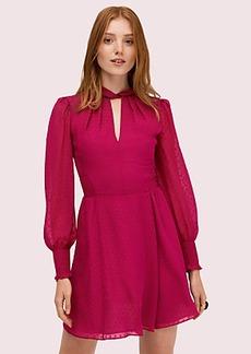 Kate Spade silk clip smocked mini dress