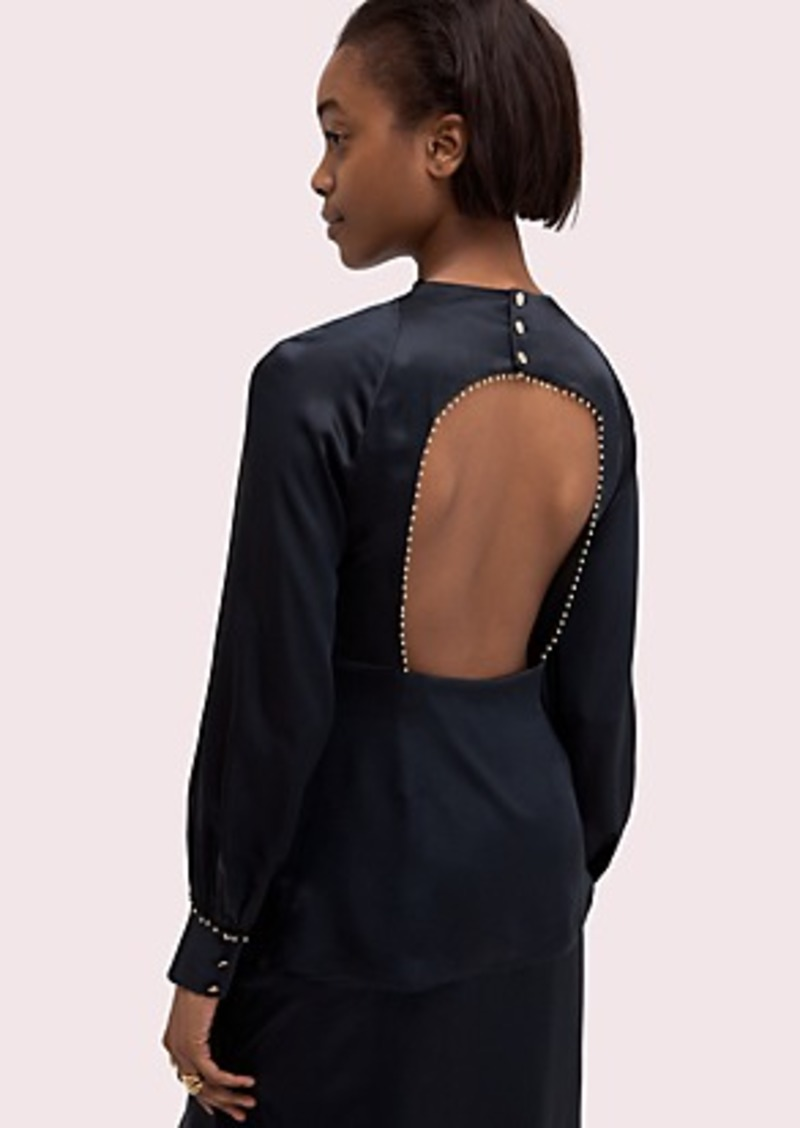 Kate Spade silk open-back blouse