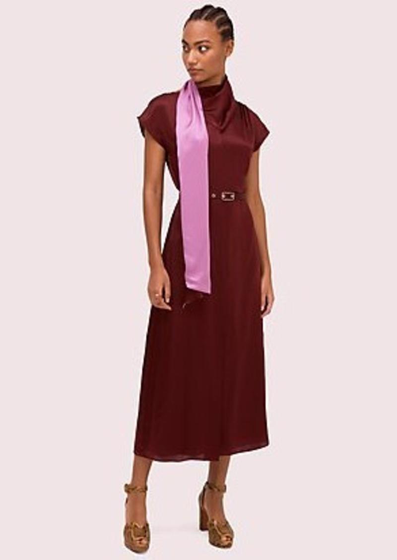 Kate Spade silk wrap neck dress