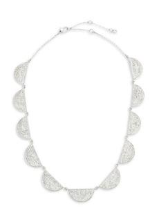 Kate Spade Silvertone Pavé Collar Necklace