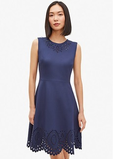 Kate Spade Sleeveless Cutwork Ponte Dress