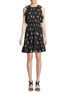 Kate Spade sleeveless pineapple-print dress