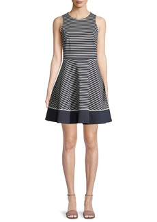 Kate Spade sleeveless stripe ponte mini dress