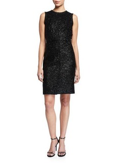 Kate Spade sleeveless tinsel tweed sheath dress