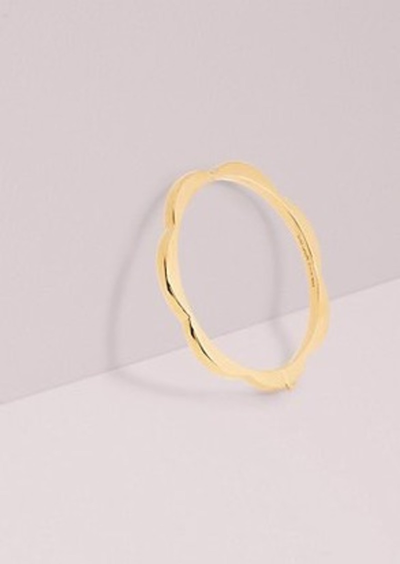 Kate Spade sliced scallops hinge bangle
