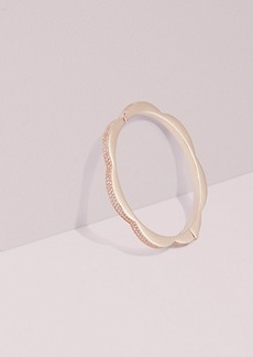 Kate Spade sliced scallops pavé hinged bangle