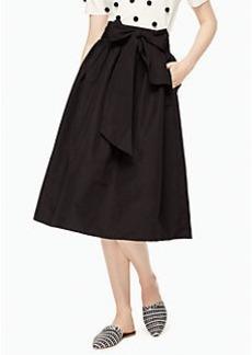 Kate Spade slub cotton midi skirt