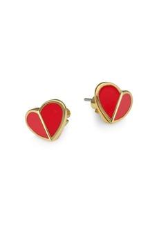 Kate Spade Small Heart Enamel Stud Earrings