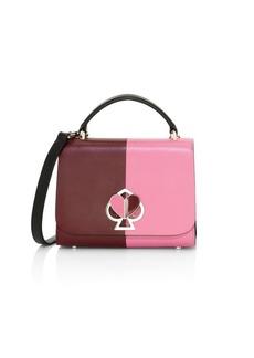 Kate Spade Small Nicola Twistlock Leather Top Handle Bag