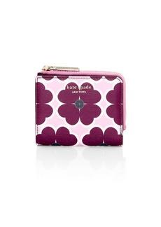 Kate Spade Small Sylvia Clover-Print Bi-Fold Wallet
